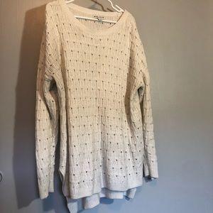 Ava & Viv Plus Size Cream Sweater
